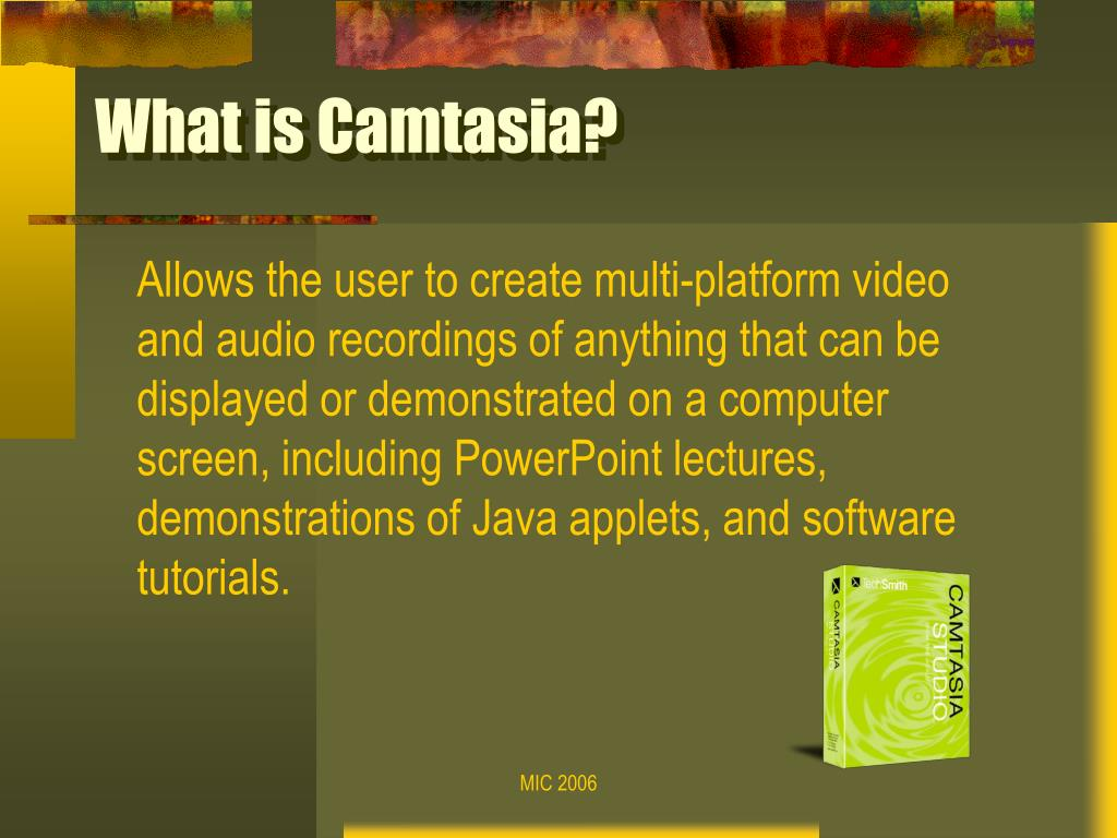 What is Camtasia?