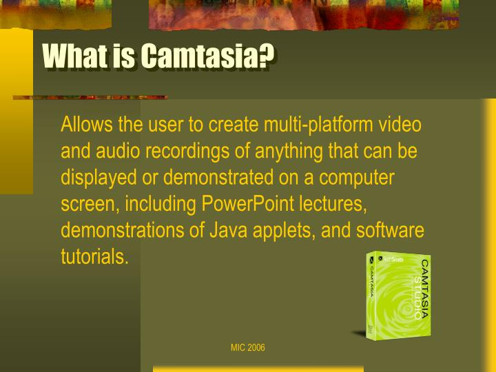What is camtasia