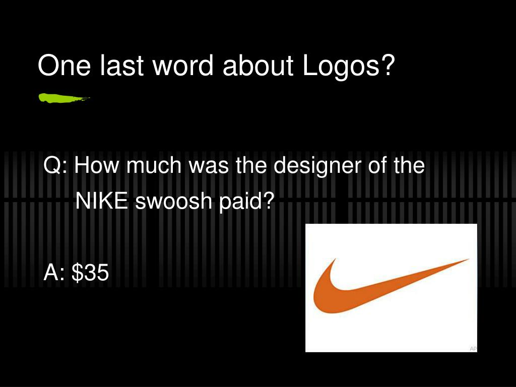 One last word about Logos?