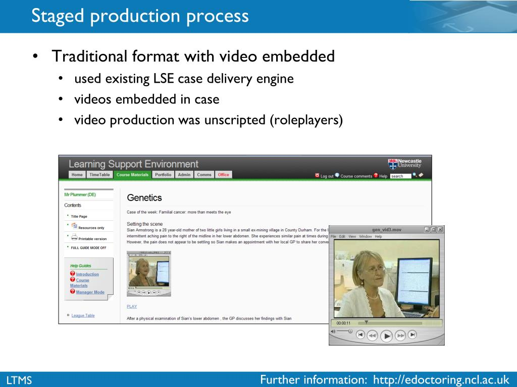 Staged production process