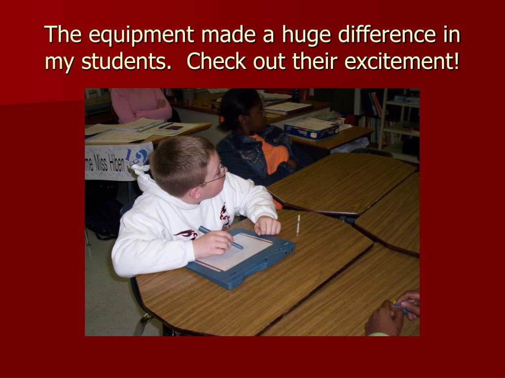 The equipment made a huge difference in my students.  Check out their excitement!