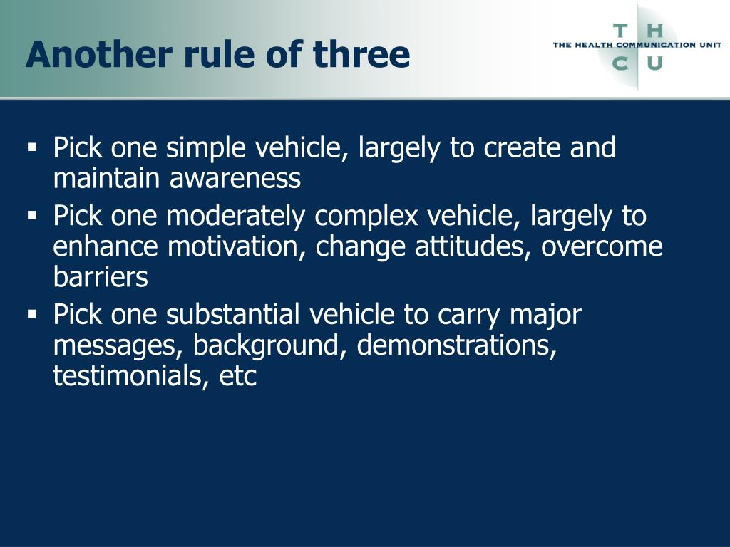 Another rule of three