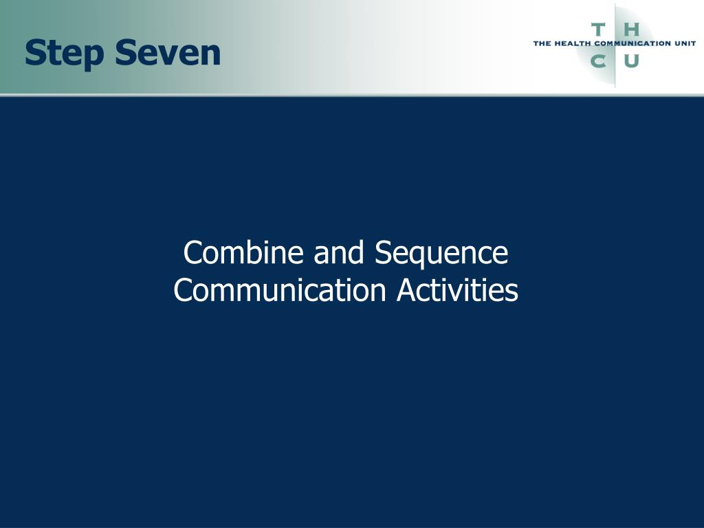 Combine and Sequence Communication Activities