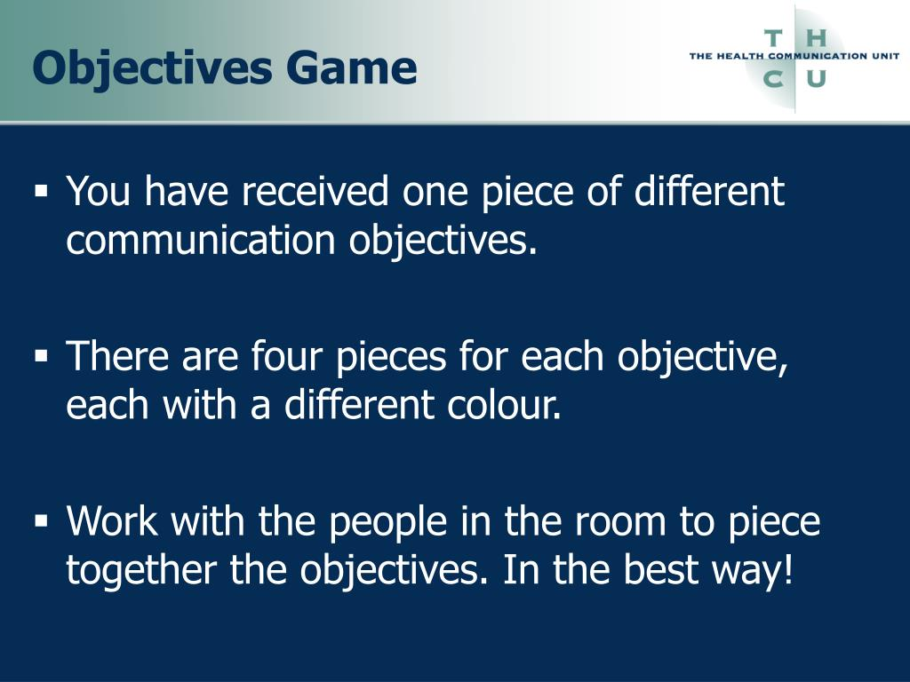 Objectives Game