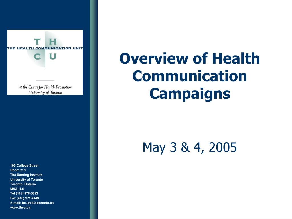 overview of health communication campaigns