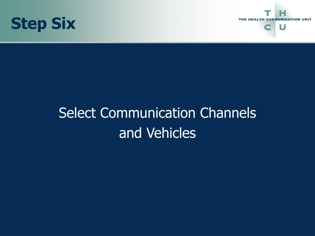 Select Communication Channels