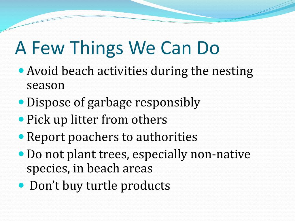 A Few Things We Can Do