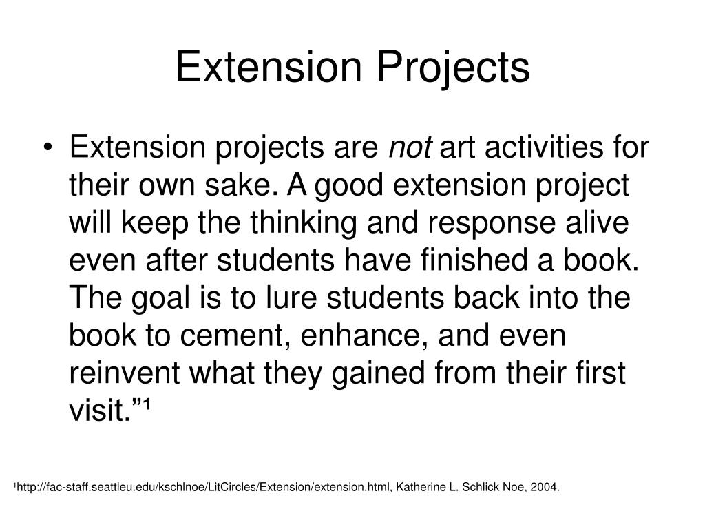Extension Projects