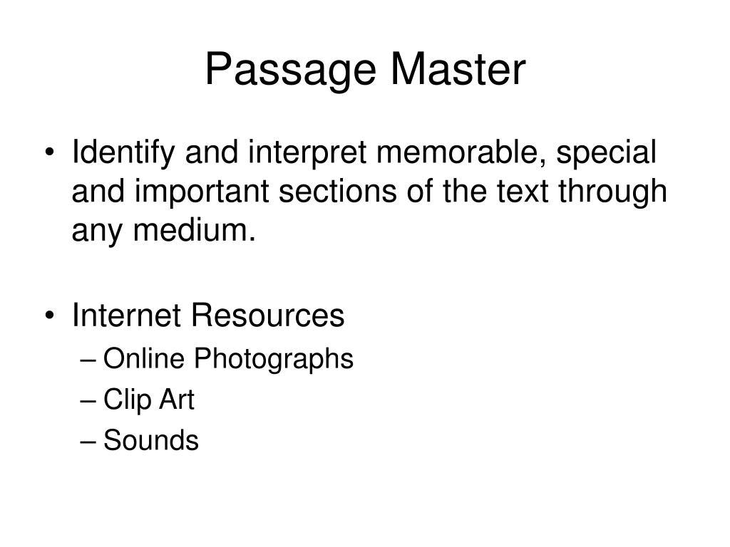 Passage Master