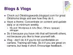 blogs vlogs
