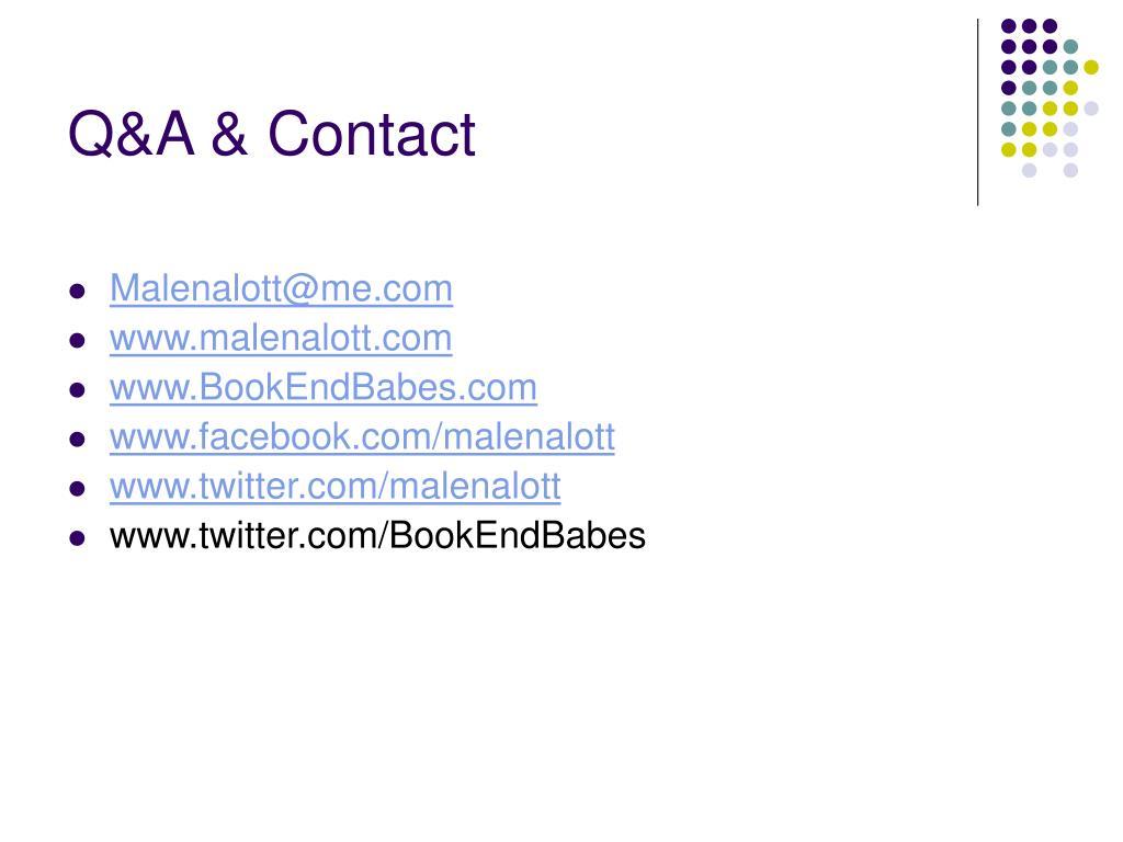 Q&A & Contact