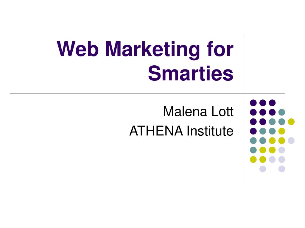 web marketing for smarties