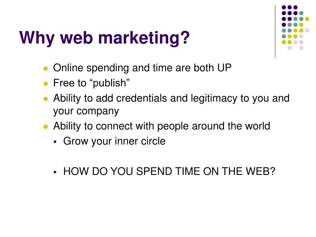 Why web marketing?
