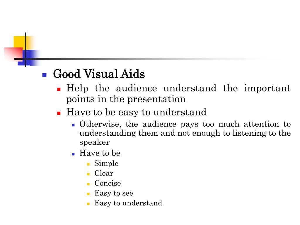 Good Visual Aids