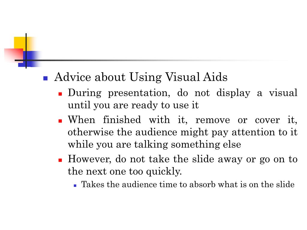 Advice about Using Visual Aids