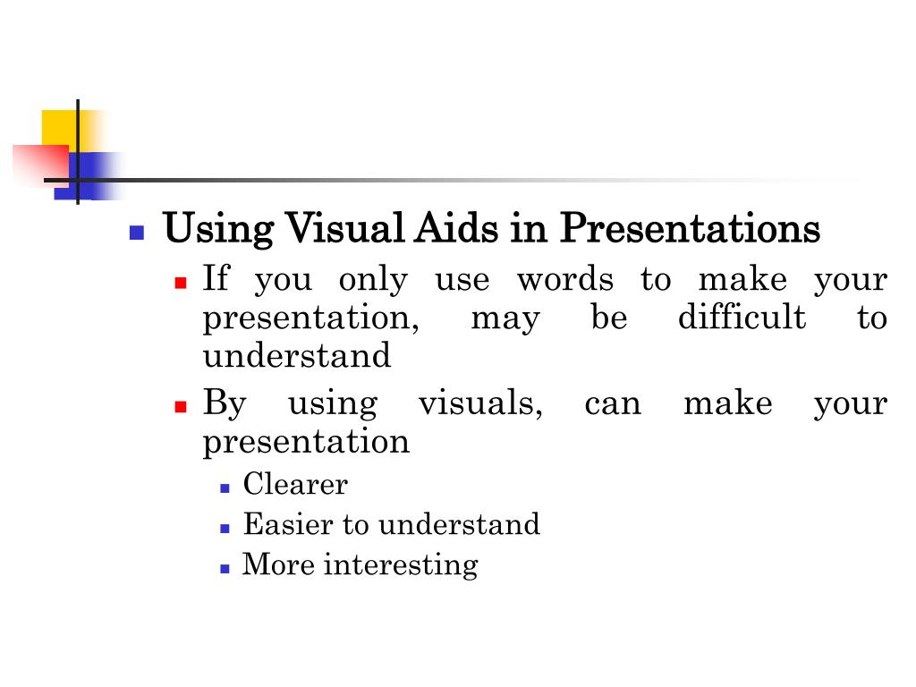 Using Visual Aids in Presentations