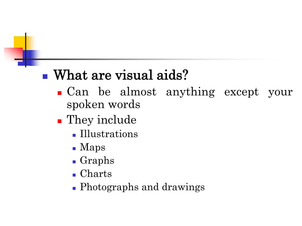 What are visual aids?
