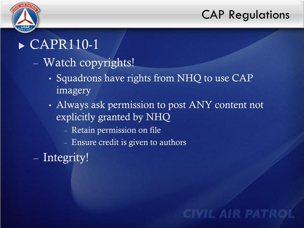 CAP Regulations
