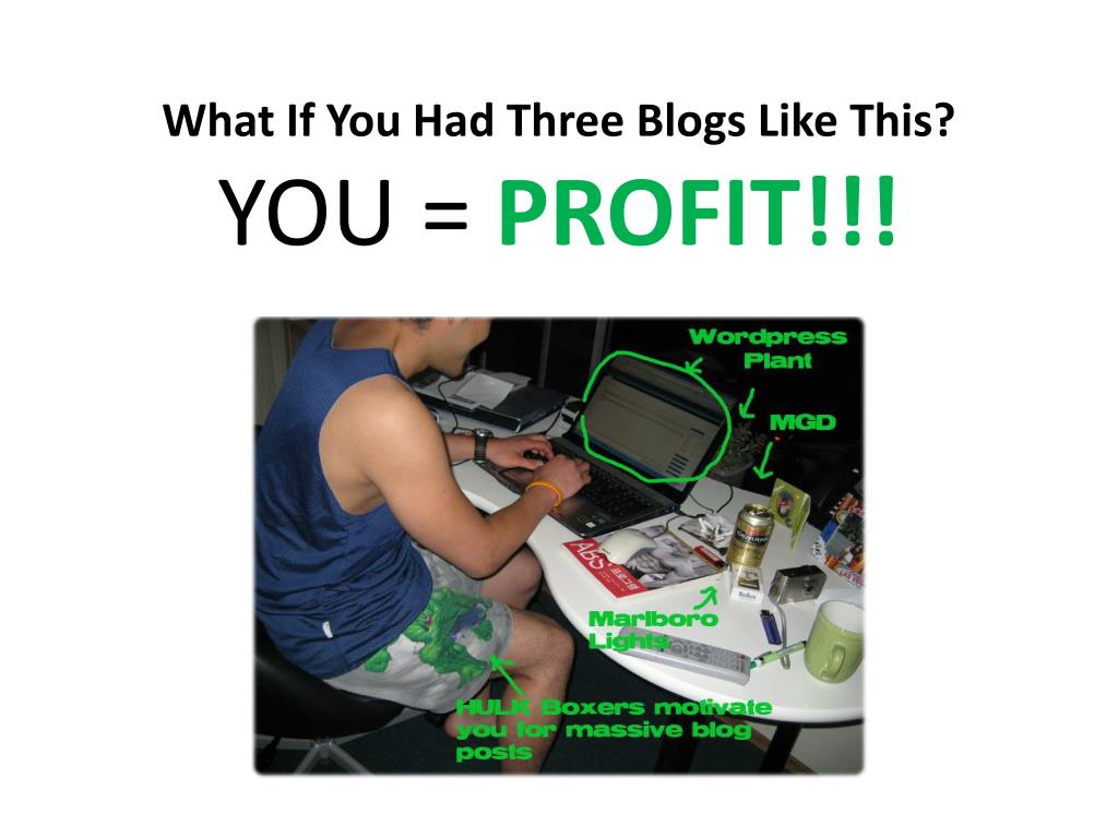 What If You Had Three Blogs Like This?