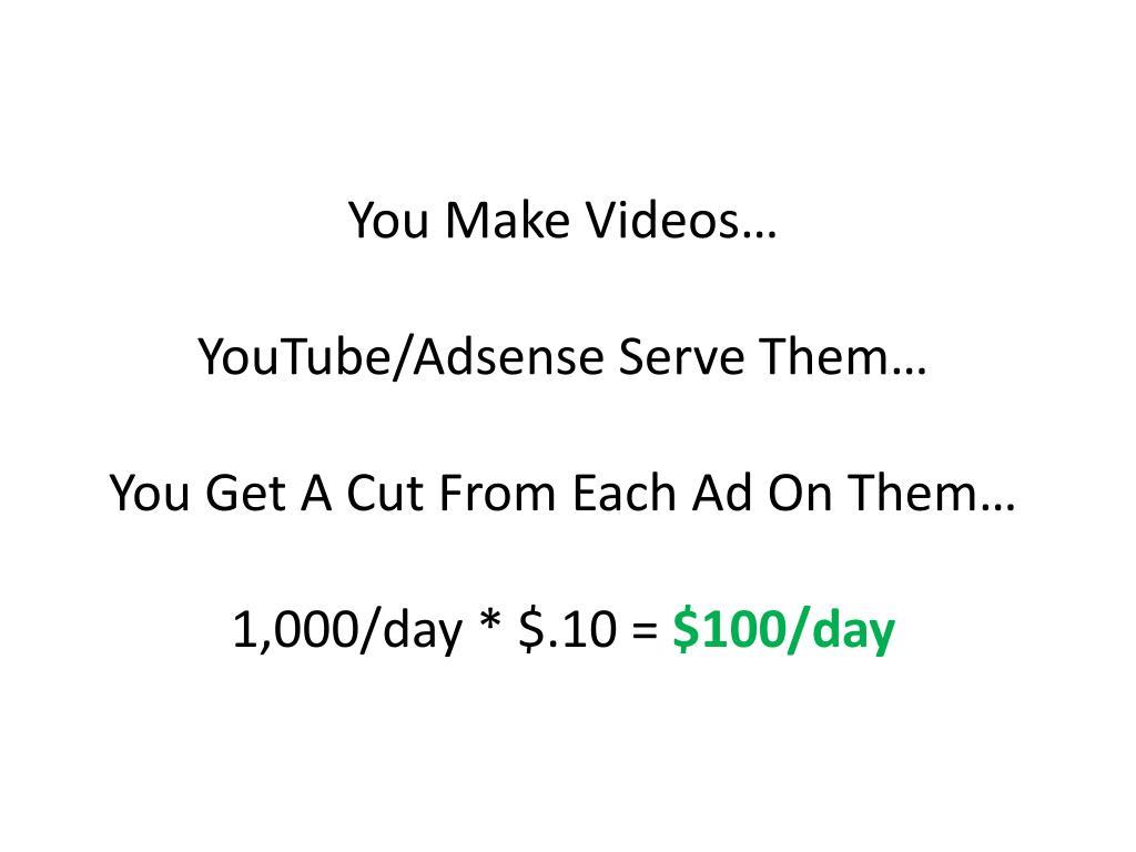 You Make Videos…