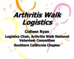 arthritis walk logistics