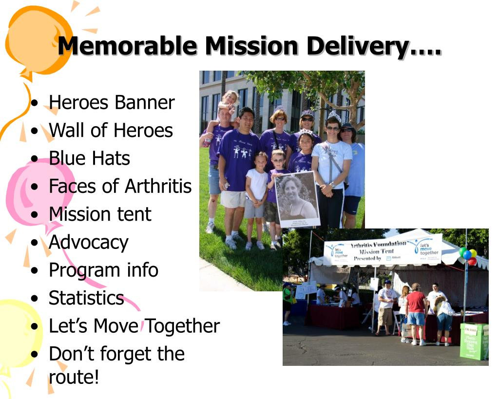 Memorable Mission Delivery….