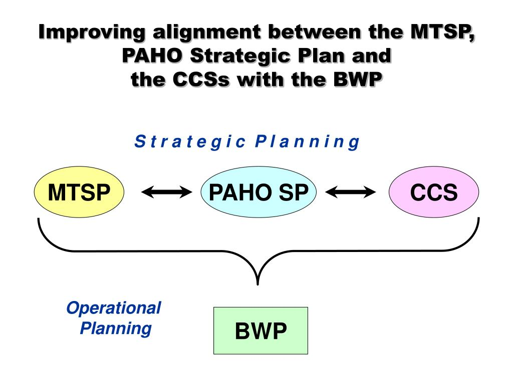 Improving alignment between the MTSP, PAHO Strategic Plan and