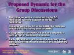 proposed dynamic for the group discussions