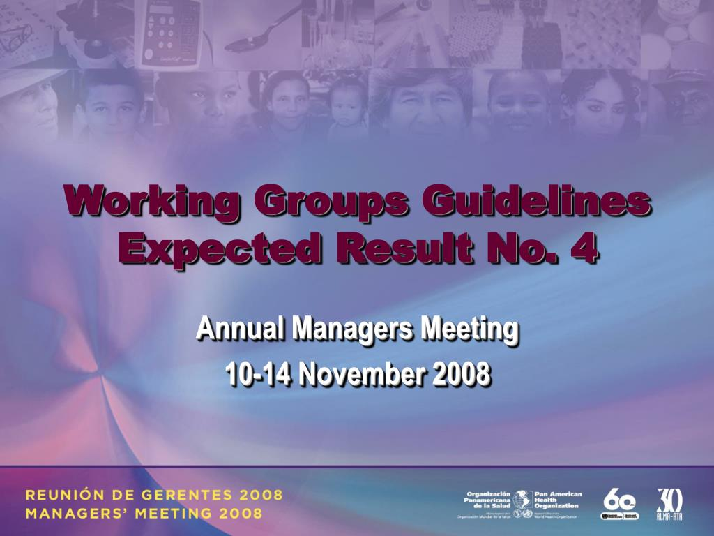 Working Groups Guidelines