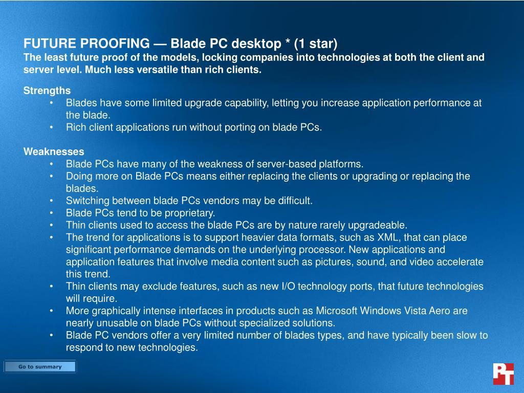 FUTURE PROOFING — Blade PC desktop * (1 star)