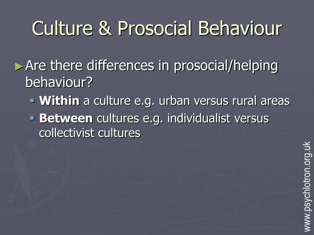 Culture & Prosocial Behaviour