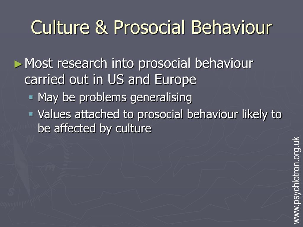 Culture & Prosocial Behaviour