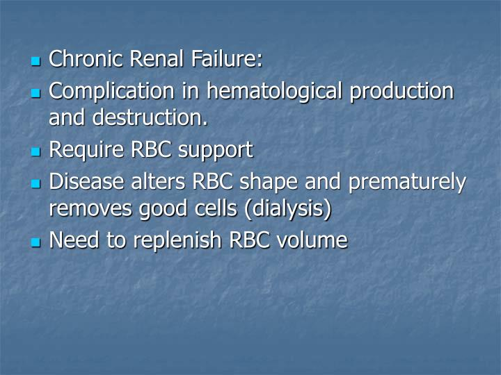 Chronic Renal Failure: