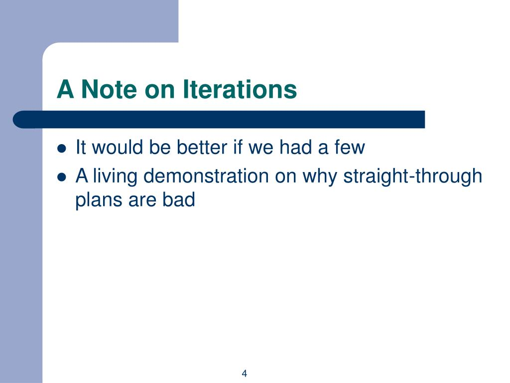 A Note on Iterations