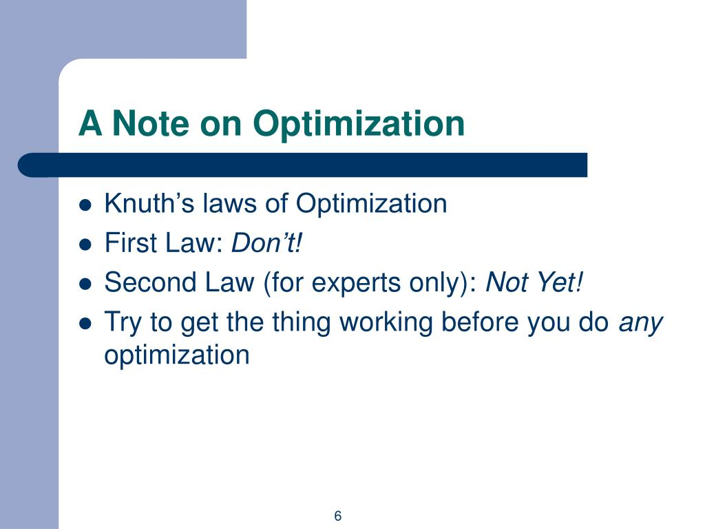 A Note on Optimization