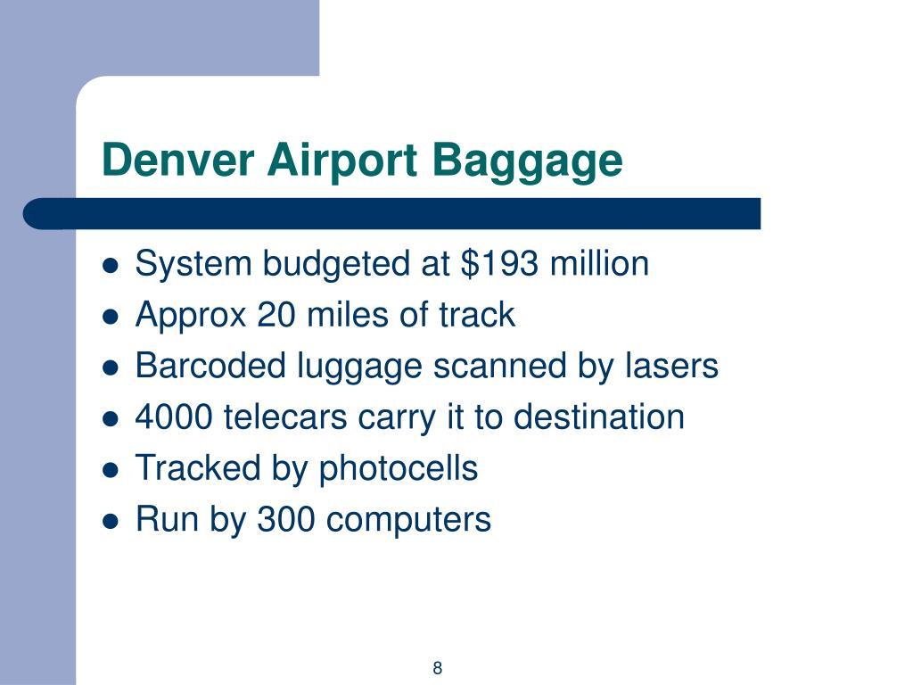 Denver Airport Baggage