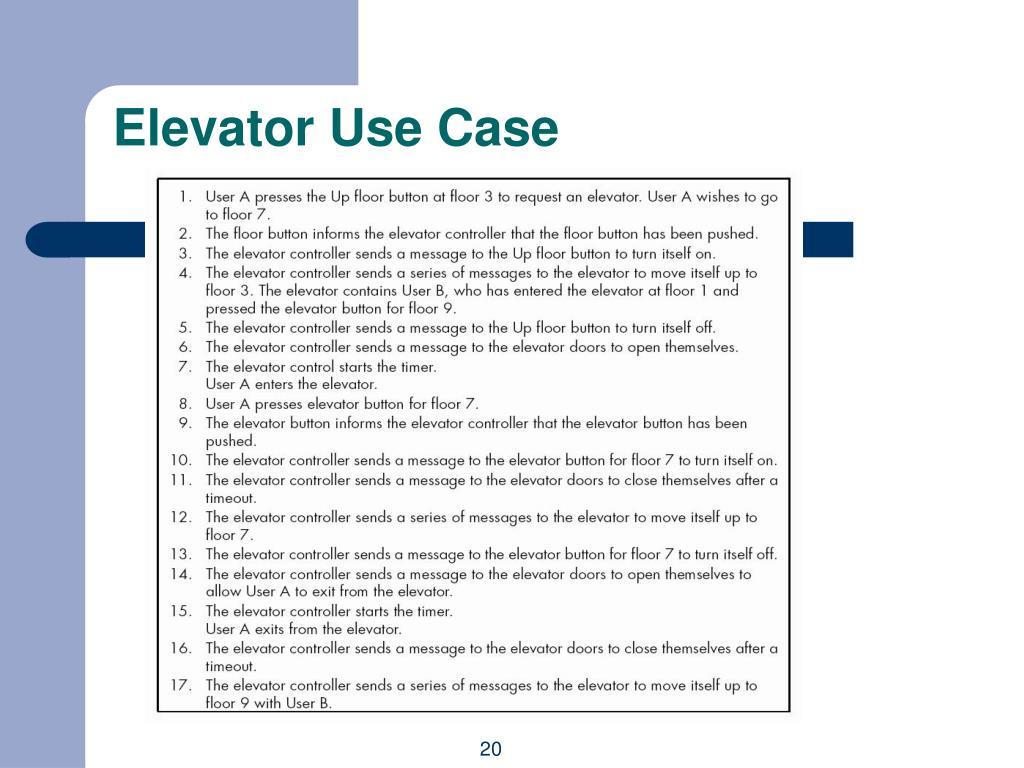 Elevator Use Case