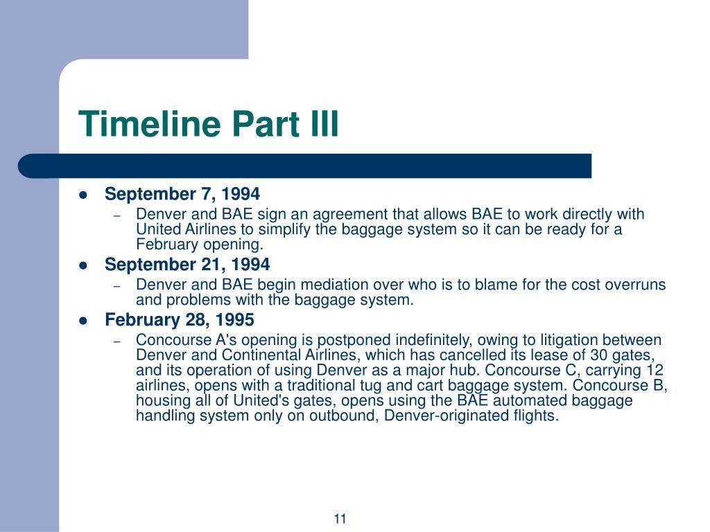 Timeline Part III