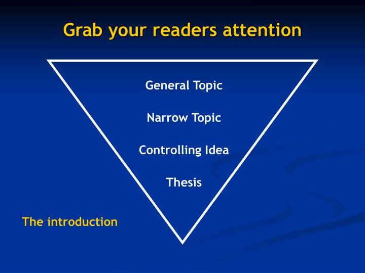 Grab your readers attention
