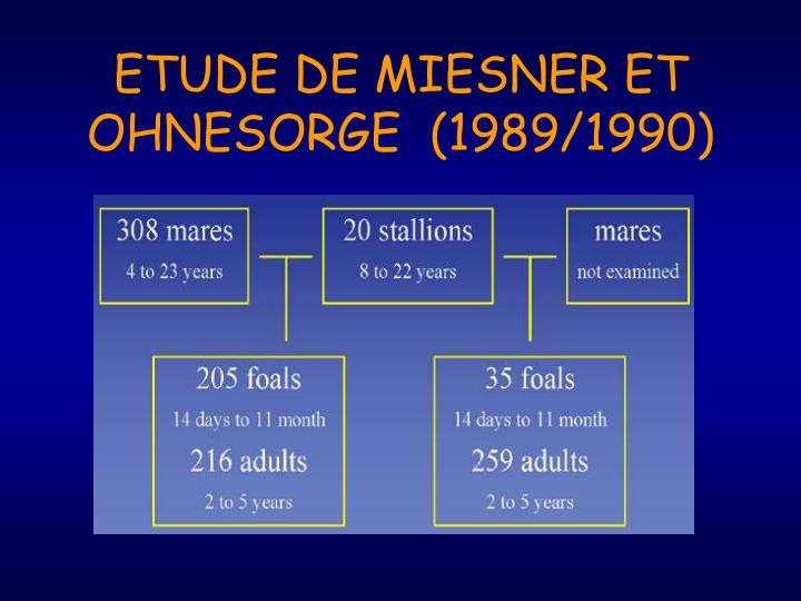 ETUDE DE MIESNER ET OHNESORGE  (1989/1990)