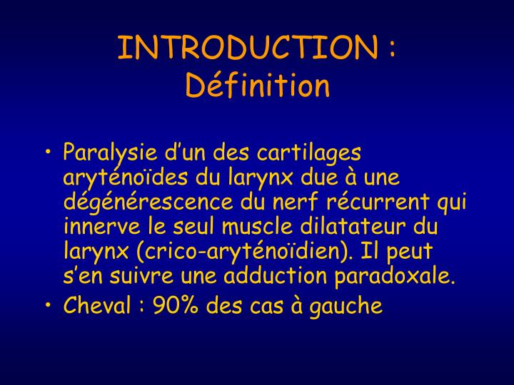 Introduction d finition