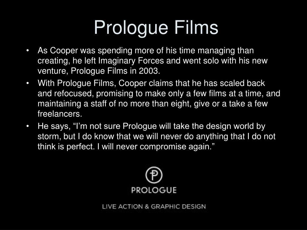 Prologue Films