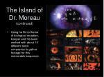 the island of dr moreau continued