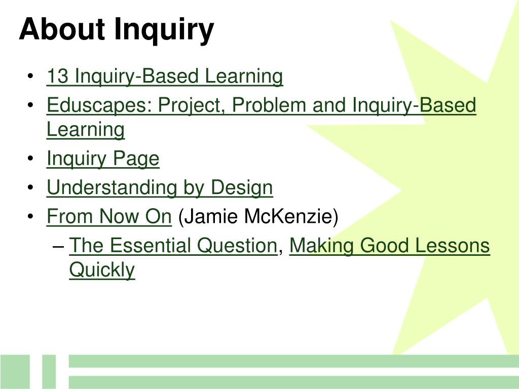 About Inquiry