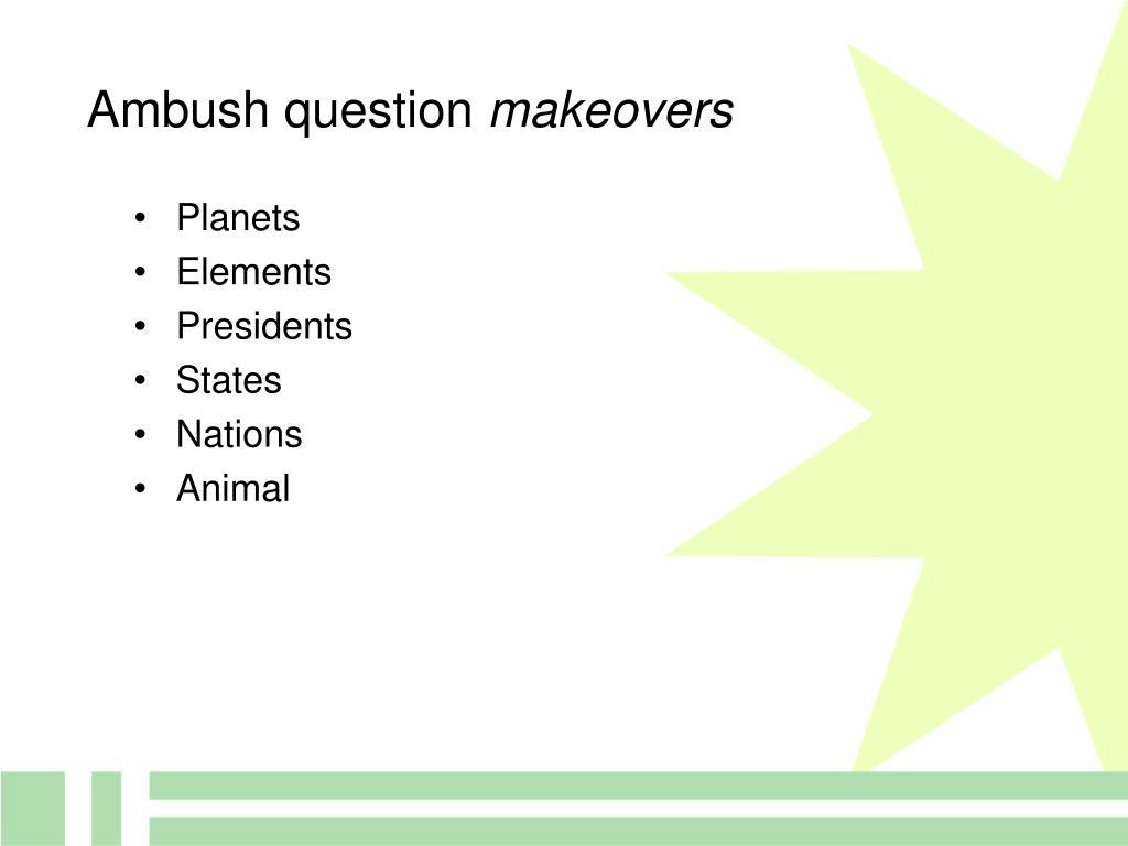 Ambush question