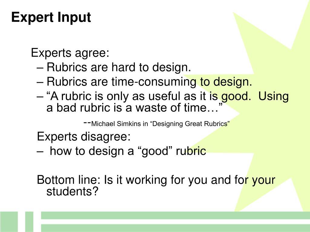 Expert Input