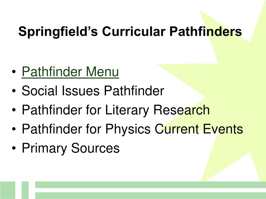 Springfield's Curricular Pathfinders