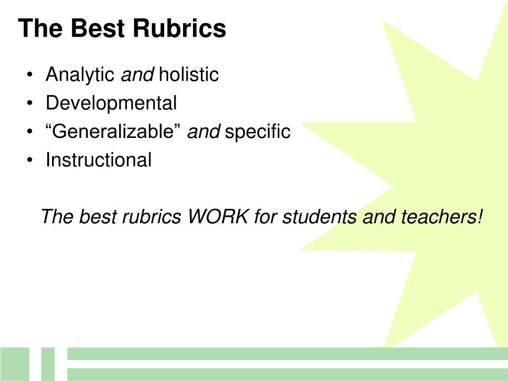 The Best Rubrics