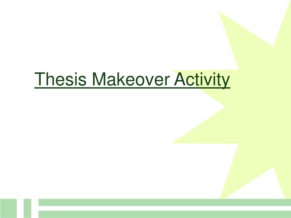 Thesis Makeover Activity