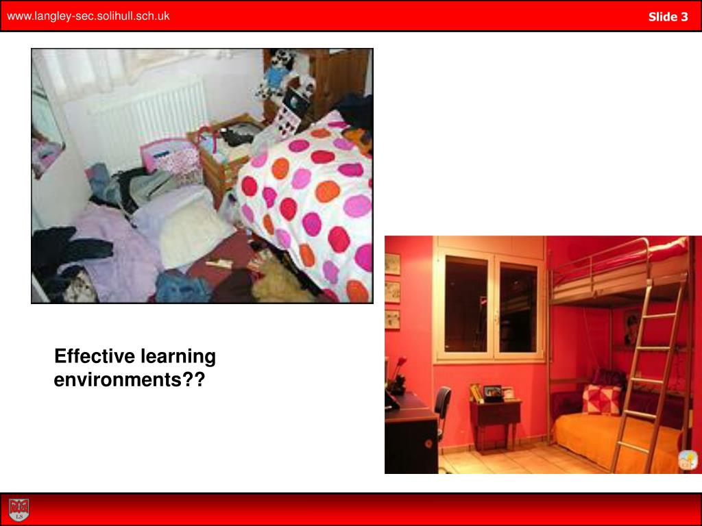 Effective learning environments??
